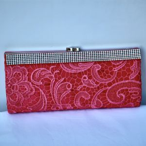 A Pink Laced Ascot Inspired Handbag JE377